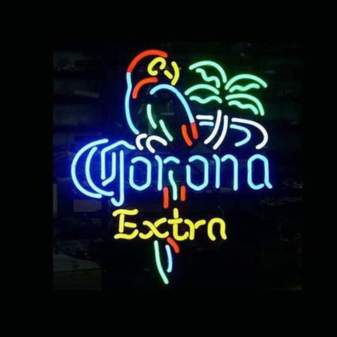 Professional  Corona Extra Parrot Beer Bar Open Neon Signs