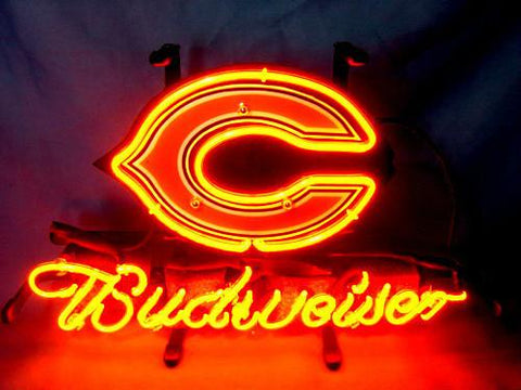 Chicago Bears Football Budweiser Neon Sign