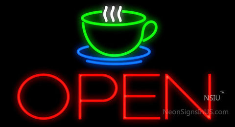 Coffee Cup Open Neon Sign