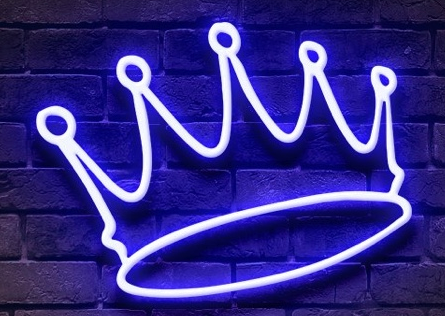 Crown neon sign Handmade Art Neon Signs