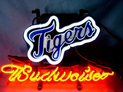 Detroit Tigers Baseball Budweiser Beer Neon Light Sign