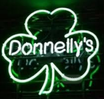 Donnelly's shamrock neon sign