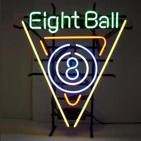 Professional  Eight Ball Shop Open Neon Sign