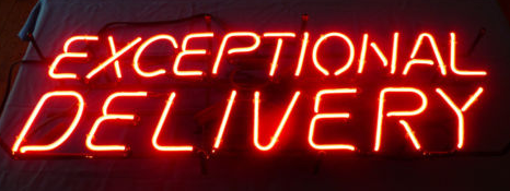 Exceptional Delivery Handmade Art Neon Signs