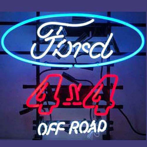 Professional  Ford 4X4 Off Road Shop Open Neon Sign