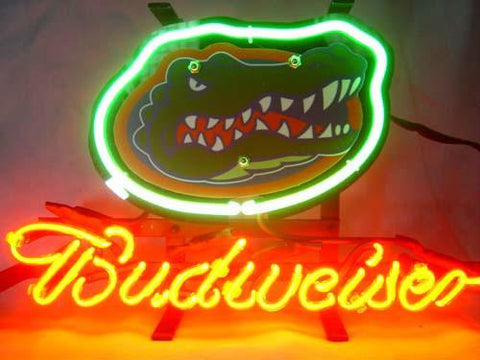 Florida Gators Budweiser Beer Neon Light Sign