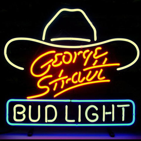 Professional  George Stratt Bud Beer Bar Open Neon Signs