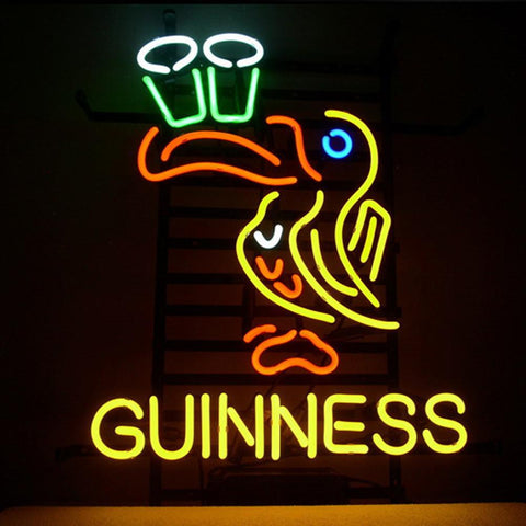 Professional  Guinness Irish Lager Ale Toucan Neon Beer Bar Pub Sign T713