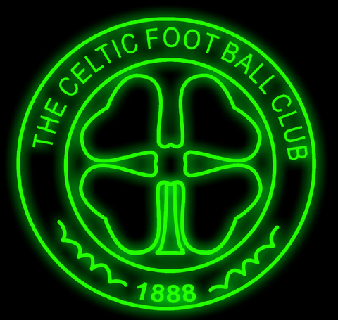 Glasgow Celtic Handmade Art Neon Signs