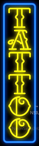 Gold Blue Tattoo Neon Sign