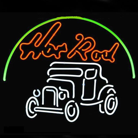 Professional  Hot Rod Hotrods Logo Auto Car Dealer Beer Bar Real Neon Sign Fast Ship