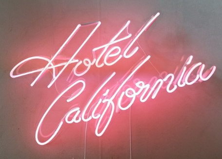 Hotel California Handmade Art Neon Sign