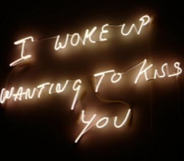 I woke up wanting to kiss you Handmade Art Neon Signs