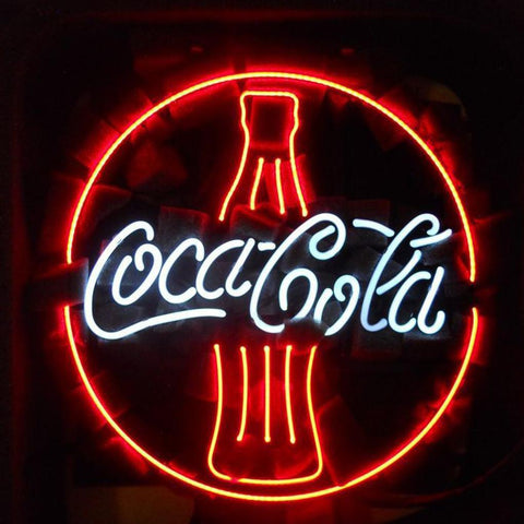 Coca Cola Bottle Beer Bar Neon Light Sign