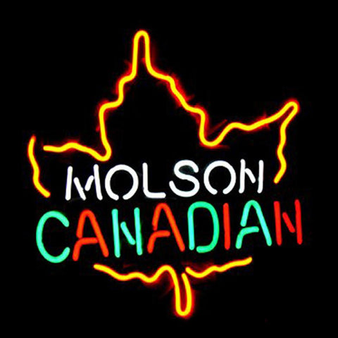 Professional  Molson Canadian Beer Bar Open Neon Signs