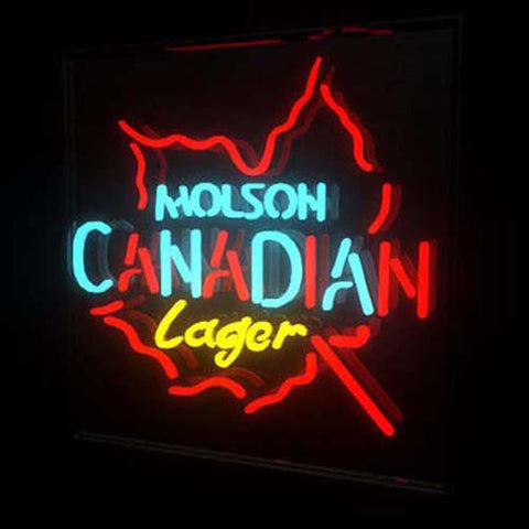 Professional  Molson Canadian Lager Beer Bar Open Neon Signs