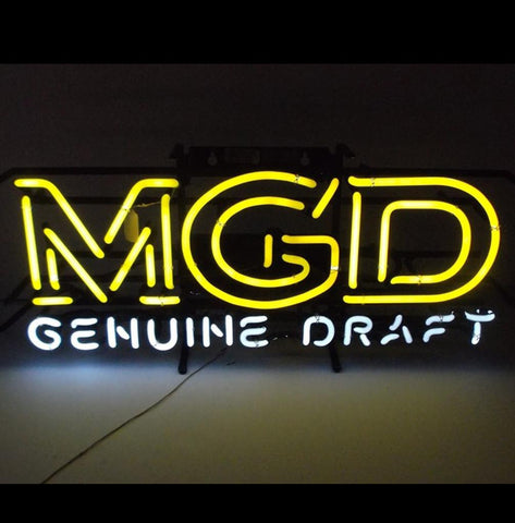 Miller Genuine Draft Neon Illuminated Advertisement Sign