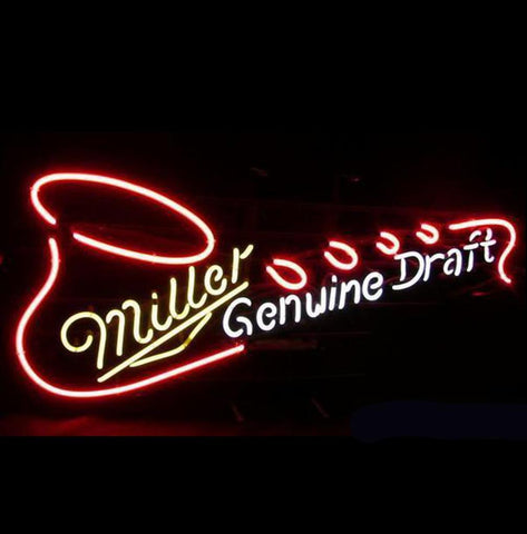 Miller Genuine Draft Saxophone Neon Beer Sign Light
