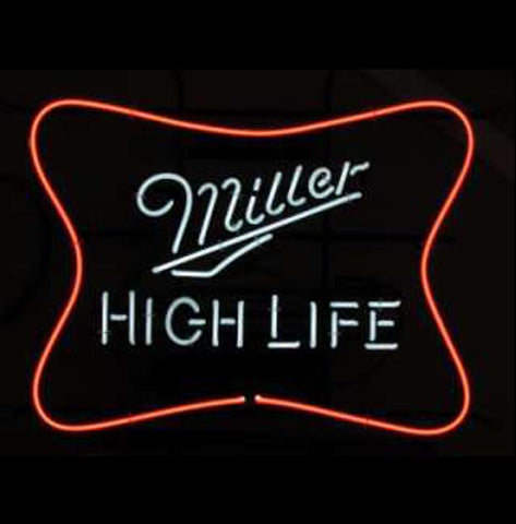 Miller High Life Logo Beer Bar Pub Store Light Sign Neon