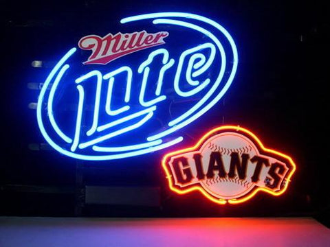 Miller Lite Beer San Francisco Giants Neonbar