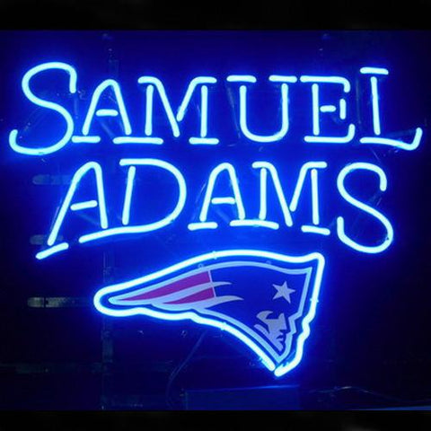 Professional  New England Patriots Samuel Adams Lager Neon Sign