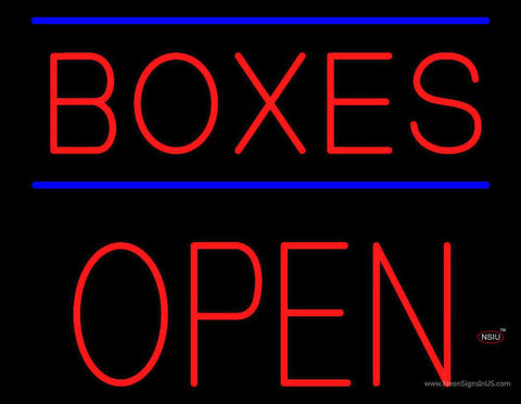 Boxes Open Block Real Neon Glass Tube Neon Sign