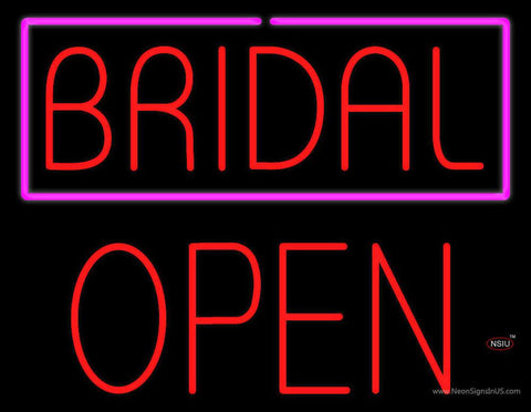 Bridal Block Open Real Neon Glass Tube Neon Sign