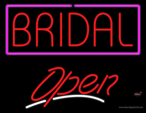 Block Bridal Open Real Neon Glass Tube Neon Sign
