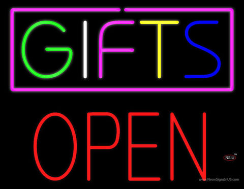 Gifts Block Open Real Neon Glass Tube Neon Sign