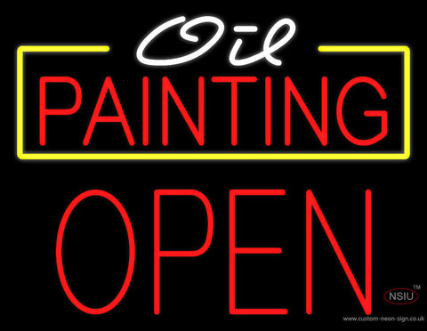 Oil Painting Block Open Neon Sign