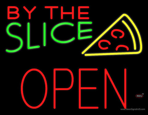 By the Slice Block Open Real Neon Glass Tube Neon Sign