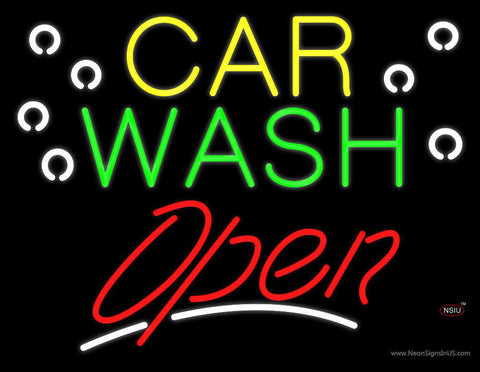 Car Wash Block Open Real Neon Glass Tube Neon Sign