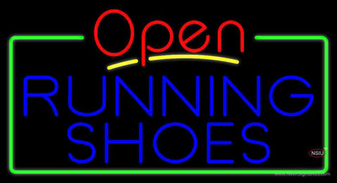 Blue Running Shoes Open Real Neon Glass Tube Neon Sign