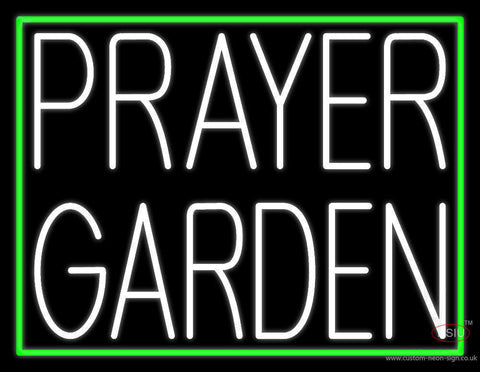 White Prayer Garden Neon Sign