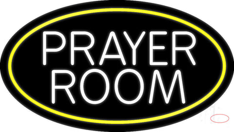 White Prayer Room Neon Sign