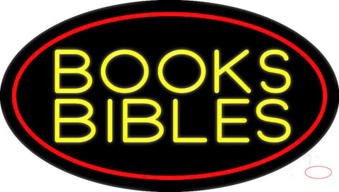 Yellow Books Bibles Neon Sign