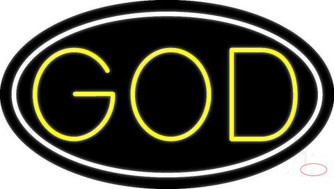 Yellow God Neon Sign