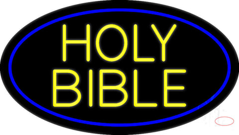 Yellow Holy Bible Neon Sign