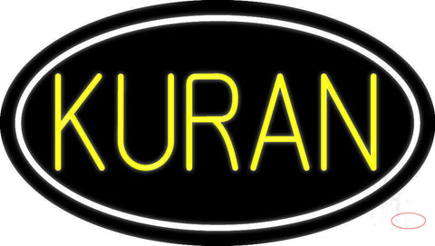 Yellow Kuran With Border Neon Sign