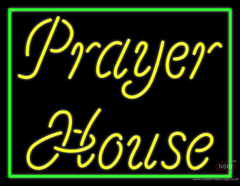 Yellow Prayer House Neon Sign
