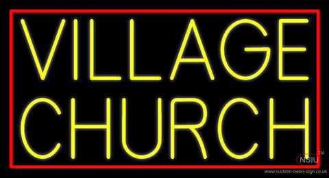 Yellow Village Church Neon Sign
