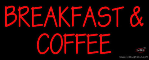 Breakfast And Coffee Real Neon Glass Tube Neon Sign
