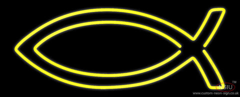 Yellow Christian Neon Sign
