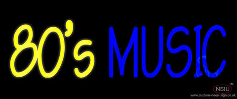 Yellow s Blue Music Neon Sign