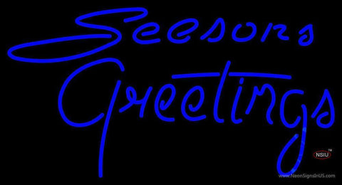 Cursive Seasons Greetings Neon Sign