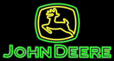 John Deere Logo Real Neon Glass Tube Neon Sign