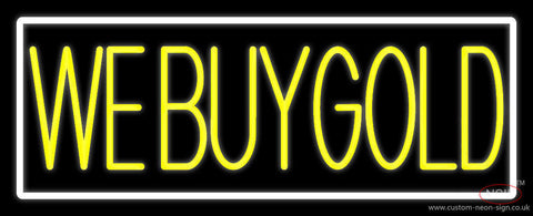 Yellow We Buy Gold Neon Sign