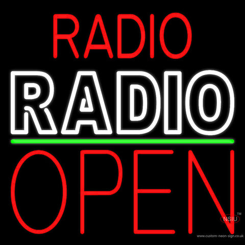 Radio Radio Open Block Neon Sign