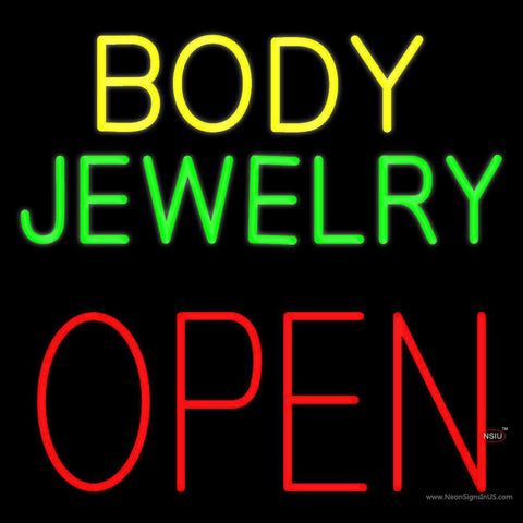 Body Jewelry Open Block Real Neon Glass Tube Neon Sign