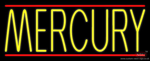 Yellow Mercury Red Line Neon Sign